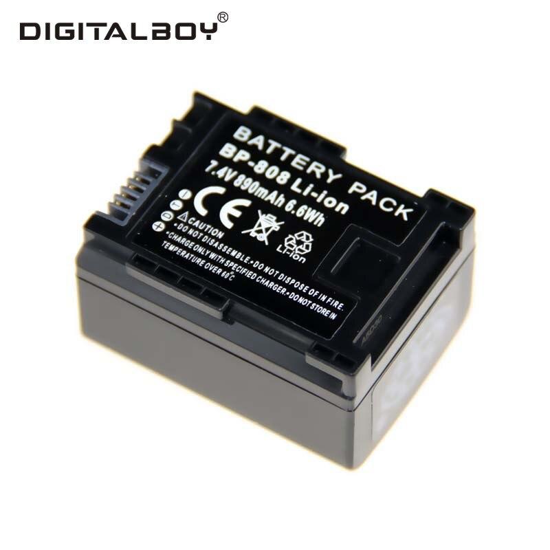 Digitalboy 1 pcs substituição completo decodificado bp-808 bp 808 bp808  bateria da câmera para canon fs10 fs100 fs11 fs20 fs21 fs22 fs200 73aec17d24