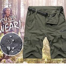 Мужские летние быстросохнущие Водонепроницаемые шорты для походов на открытом воздухе, спортивные шорты для рыбалки, походов, 4XL размера плюс