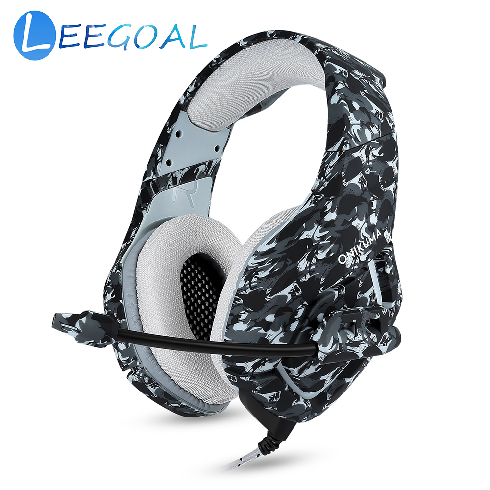 Camo Gaming Headset Stereo Camouflage Digital Print Headphones With Mic For PlayStation 4 Xbox One PS4 phones Laptop PC