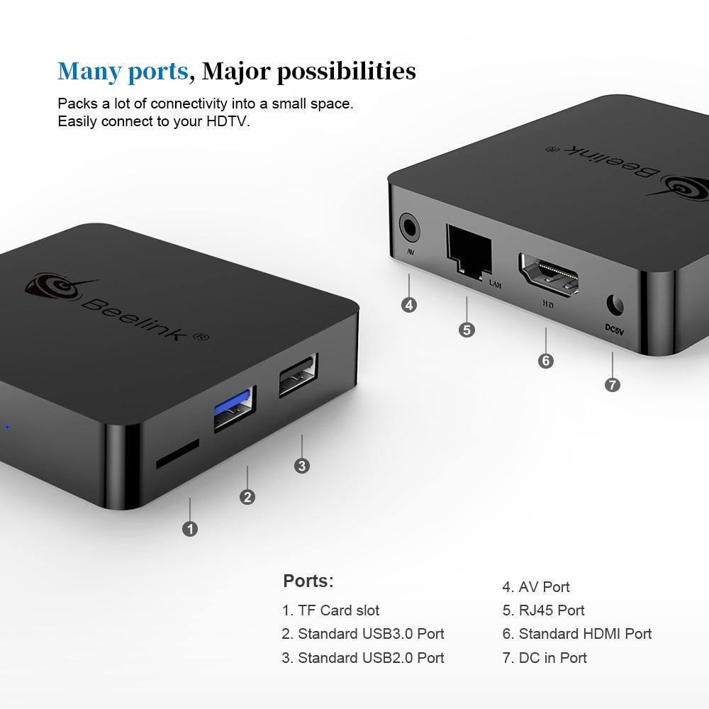 Beelink GT1 Mini Smart TV Box Android 8.1 Box Amlogic S905X2 4G DDR4 32 & 64G décodeur BT4.0 2.4G + 5G WiFi HDMI 4K commande vocale - 5