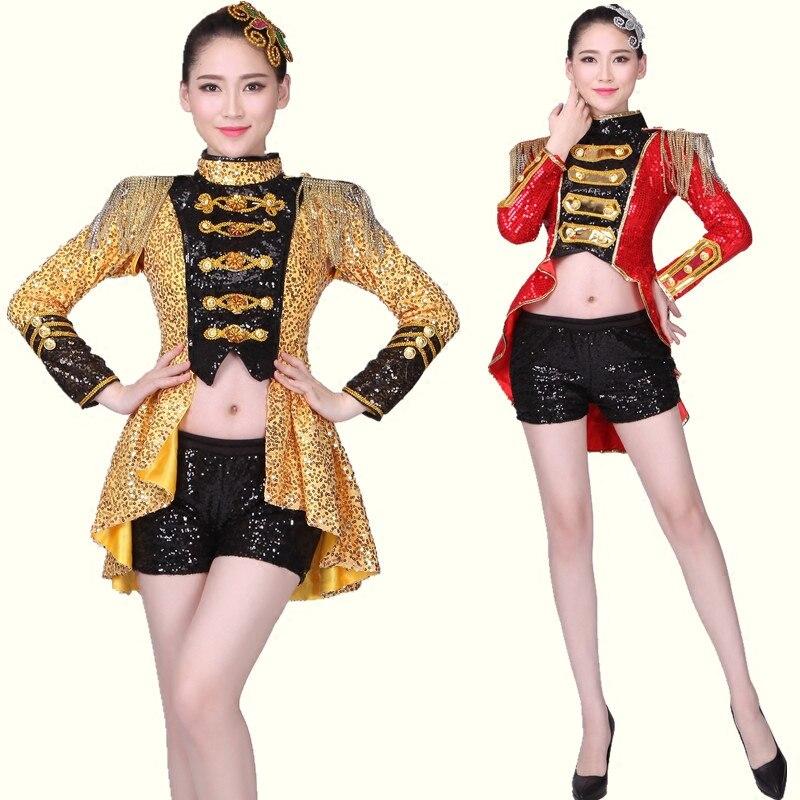 Jazz dance clothing modern dance costumes adult ds nightclub fashion sequins bar costumes tuxedo women