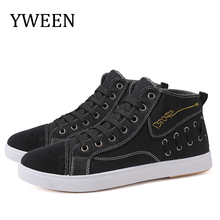YWEEN Canvas Men Shoes Denim Lace-Up Casual New Plimsolls Breathable Male Footwear Spring Autumn