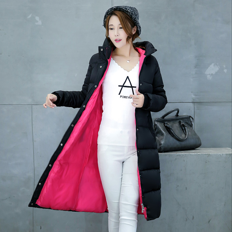 Brieuces 2018 new thicken wadded jacket outerwear winter jacket women coat long   parkas   cotton-padded hooded jacket and coat