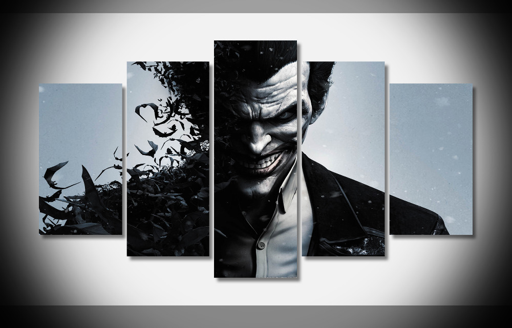 A1725 Batman Arkham Origins Joker Poster Print On Canvas Framed Stretched Decor Gallery Wrap Art