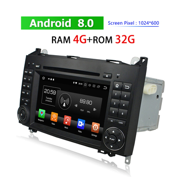 2 Din Car Multimedia Player Android 8.0 Navigator for Mercedes-Benz W169 B-W245 Viano Vito 2005-2011 GPS AutoRadio DVD Bluetooth image