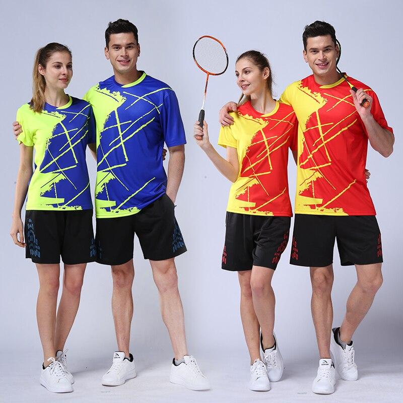 2018 badminton formation ensembles hommes femmes badminton robe séchage rapide badminton uniformes vêtements sport hommes respirant badminton chemise