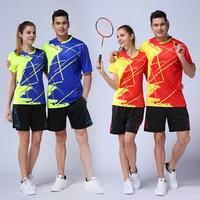 2018 badminton training sets men women badminton dress quick dry badminton uniforms clothes sport men breathable badminton shirt