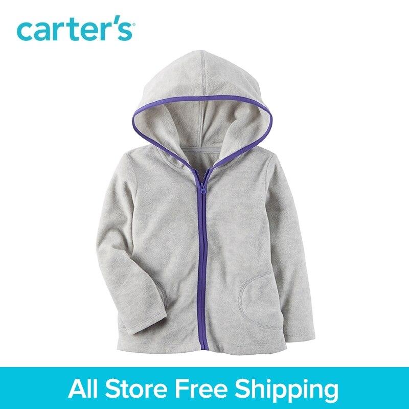 Carter's/1 из 2 предметов для маленьких детей детская одежда девушка руно Zip-Up Hoodie 253H309