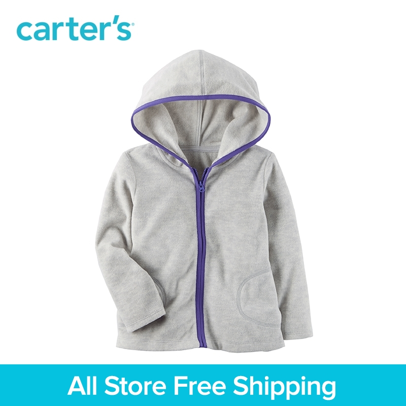 Carter's 1-Piece baby children kids clothing Girl Fleece Zip-Up Hoodie 253H309