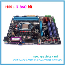 NUEVO kit con i7 Placa Base h55 LGA1156 DDR3 860 o i7 870 procesador de la cpu(China (Mainland))