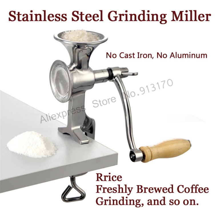 Manual Grinding Miller Corn Flour Mill Machine Coffee Bean Grinder Stainless Steel vibration type pneumatic sanding machine rectangle grinding machine sand vibration machine polishing machine 70x100mm