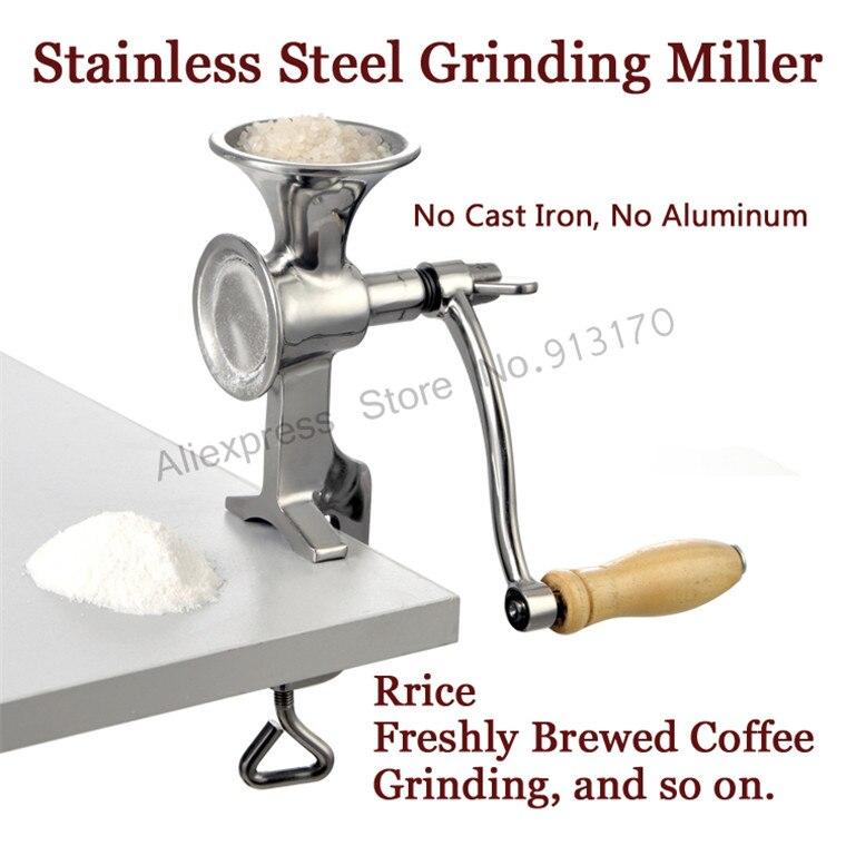 Manual molienda Miller máquina de molino de harina de maíz grano de café Grinder acero inoxidable