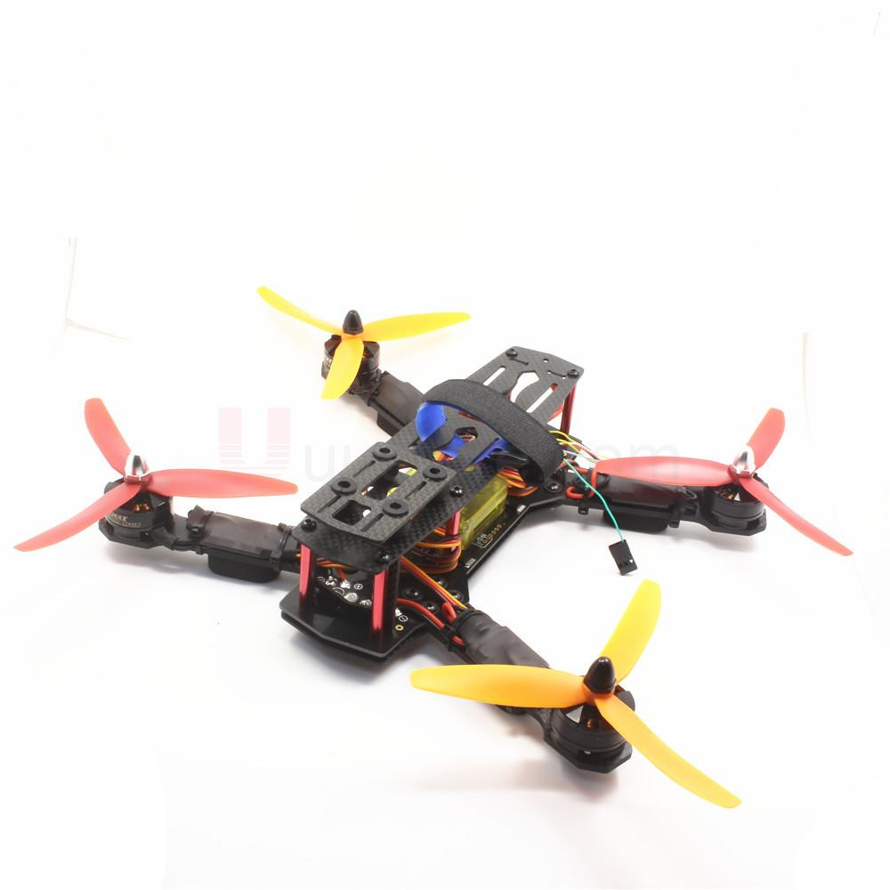 Pure Carbon Fiber ZMR250 Quadcopter frame CC3D EVO Flight Controller & 2204 2300kv Motor & Emax 12A Esc & 5030 Prop for QAV250 frame f3 flight controller emax rs2205 2300kv qav250 drone zmr250 rc plane qav 250 pro carbon fiberzmr quadcopter with camera