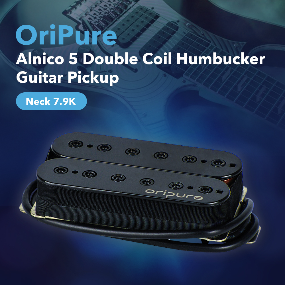 OriPure Vintage Alnico 5 Humbucker Pickup Neck Electric Guitar Pickup Black Guitar Accessories Parts Clean Warm