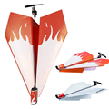 Flying Power up Propeller Model Gliders Electric paper plane aircrafts airplane Aviones Conversion Kit Kids DIY Educational Toys