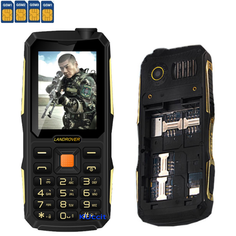 2017 Original Rugged Mobile Phone 4 Sim Cards Gsm Senior Old Man Shockproof Cell Bank Long Standby Russian Keyboard In Phones From