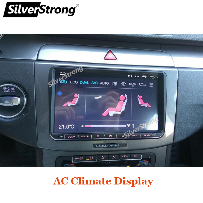 SilverStrong Android9.1 9inch Car DVD GPS For Volkswagen Passat B6 B7 Radio Stereo Radio GPS without DVD 68S