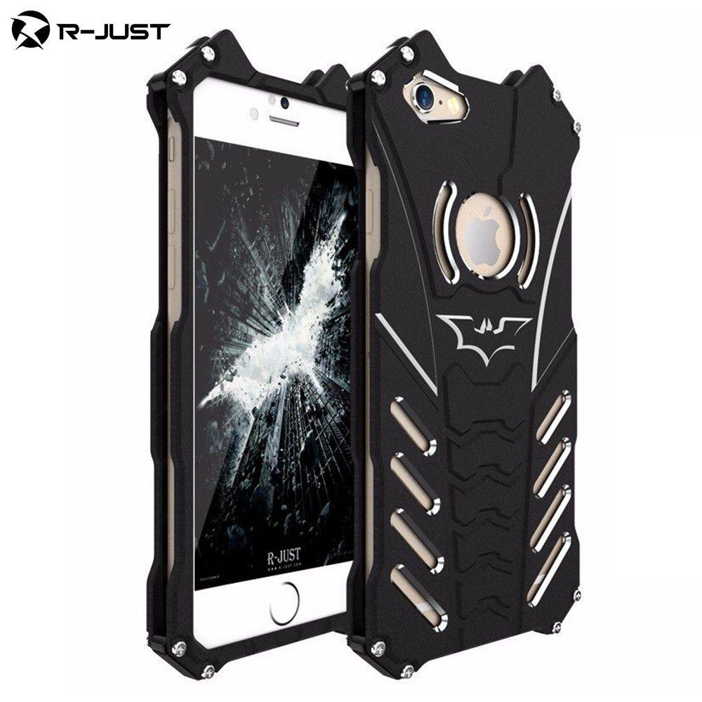 Luxury Batman Design Metal Aluminum Armor Hard Cases Case For IPhone 6 Plus 6S Plus Cover