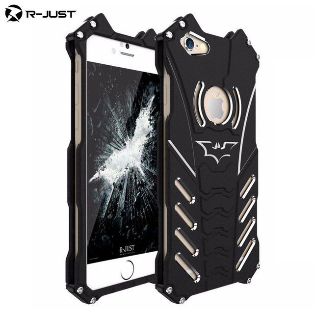 new style 0326d 061c7 US $19.99 |Luxury Batman Design Metal Aluminum Armor Hard Cases Case For  IPhone 6 Plus / 6S Plus Cover Phone Stand Holder Shell Skin Coque-in Phone  ...