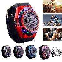 Smart Horloge Bluetooth Speaker Met Marquee Kleurrijke LED Telefoon Draadloze Ondersteuning Tf-kaart Sport Mini Speaker Handsfree Call Outdoor