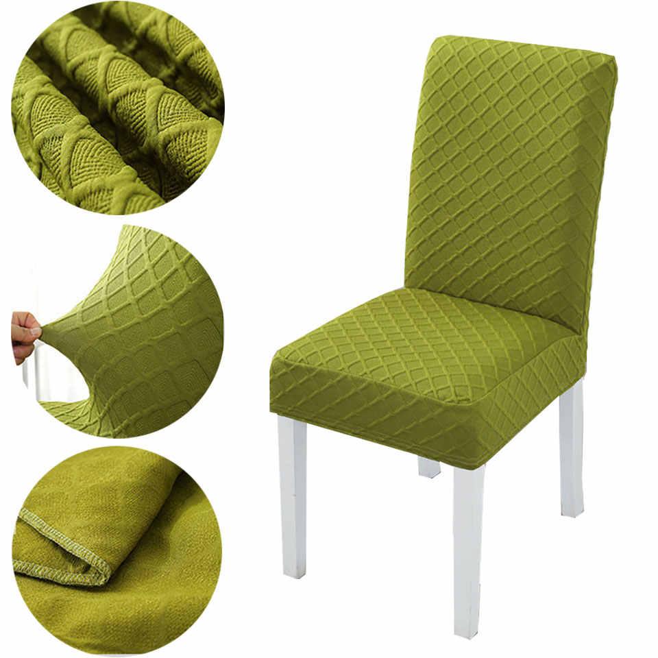 2020 Gruby Materiał Elastyczny Pokrowiec Na Krzesło Do Kuchni Wesele Elastyczne Pokrowce Na Krzesła Elastan Krzesło Do Jadalni Z Tyłu Pokrowiec Na Krzesło Aliexpress