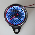 Black And Blue Plaid Pattern Style Universal Meter Motorcycle Odometer Speedometer Gauge LED Backlight Km/h DC 12V