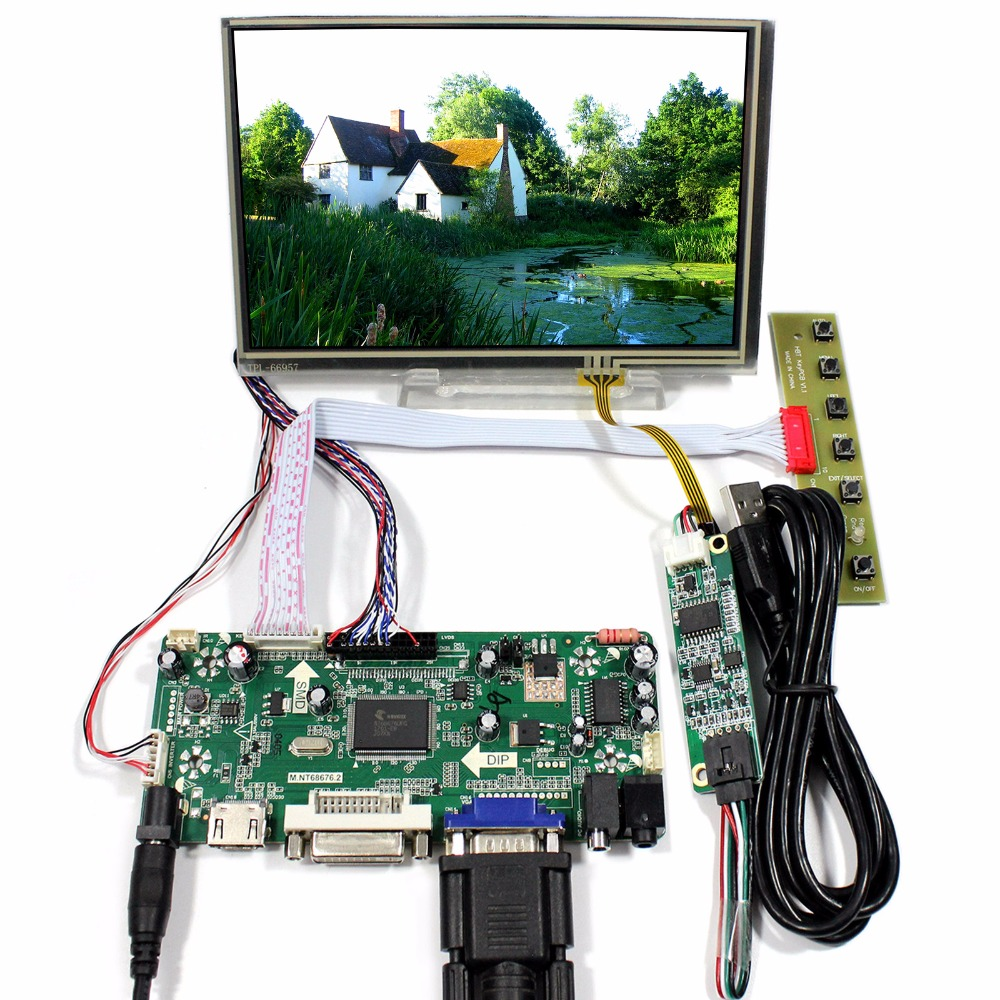 HDMI DVI VGA Audio LCD Control Board With 7inch 1280x800 N070ICG-LD1 Touch LCD etn81 055 module quality assurance