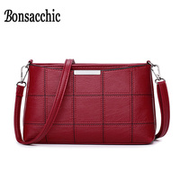 Bonsacchic Small PU Leather Bags Women Shoulder Bag Female Crossbody Bags For Women 2018 Clutch Purse