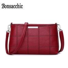 b8690bb15657 Bonsacchic Малый PU кожаные сумки Для женщин сумка женская через плечо сумки  для Для женщин 2018 клатч кошелек Bolsa feminina кр.