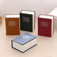 Simulation book piggy bank deposit paper money with lock password super large safe box dictionary boy birthday gift