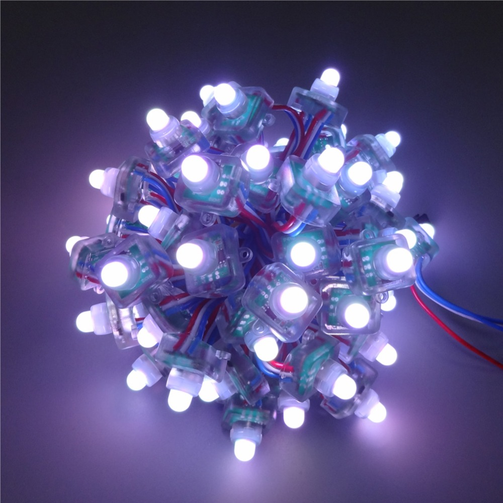 Led Lighting 50pcs Ws2811 12mm Ws2811 T1515 Square Diffused Digital Rgb Led Pixels String Ws2811 2811 Ic In One Chip Ip68 Dc5v/12v With A Long Standing Reputation