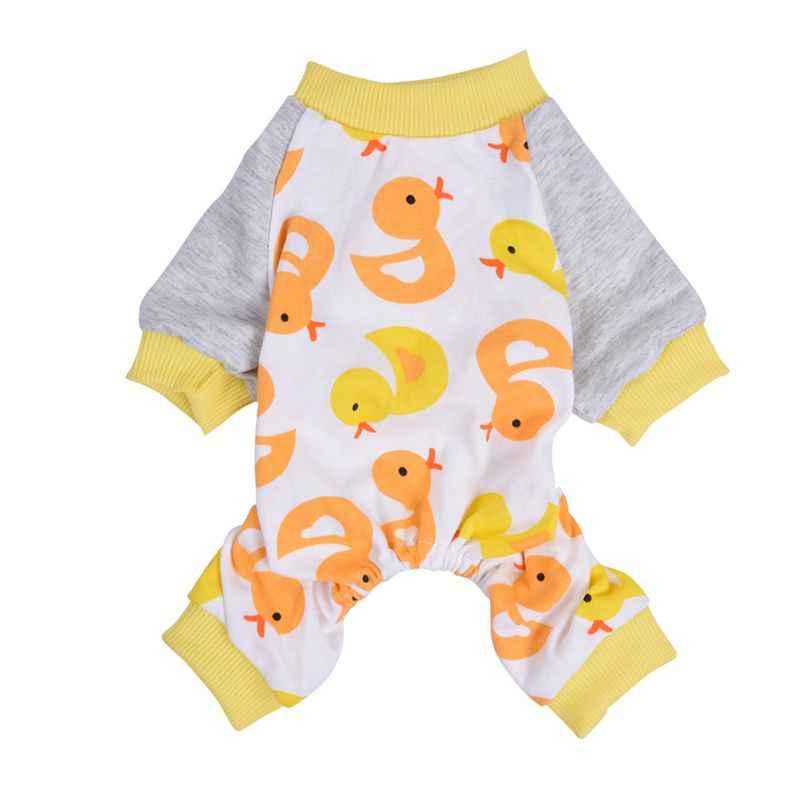 Trzymać miód kombinezony dla psów kombinezony ubrania dla psów dla psów bawełna pies piżama ubrania dla psów York tkaniny dla psów szczenięta do spania