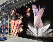 Mural Beauty Salon nail artifact background