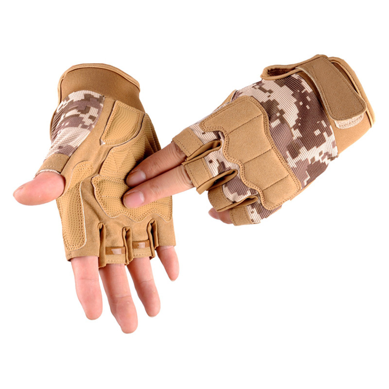 Army Tactical Half finger Bicycle Glove