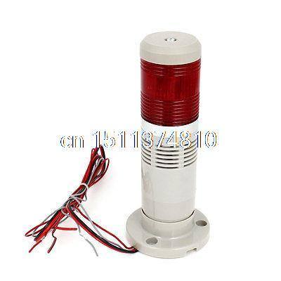 Red LED Flash Industrial Signal Tower Stack Indicator Light AC/DC 12V dc 12v pt1 16 thread red pilot lamps indicator signal light 5pcs