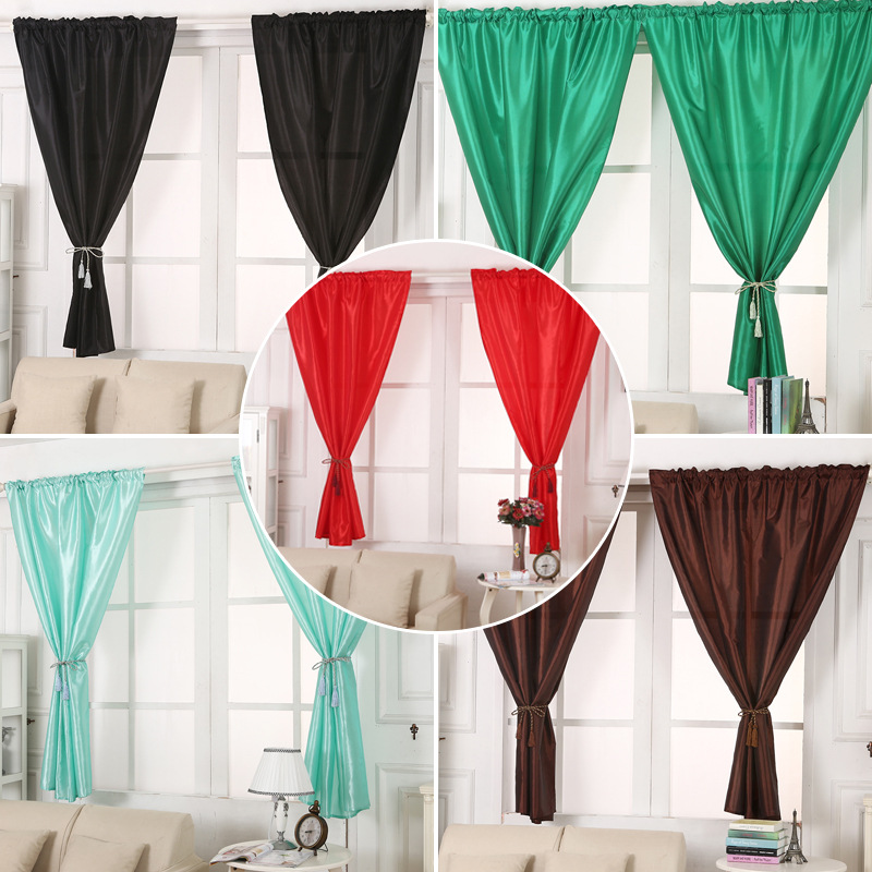 1pcs Solid Window Blinds Short Curtains Blackout For Cafe