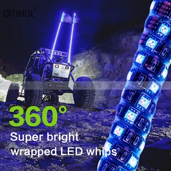 1 pc Twist Style Multi-color LED Whip Light 3FT, 4FT, 5FT Available