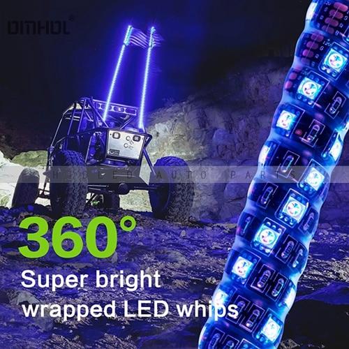 1 pc Twist Style multicolore LED fouet lumière 3FT, 4FT, 5FT disponible