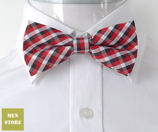 New men/'s Pre-tied Bow tie /& hankie Formal black yellow plaids /& checkers