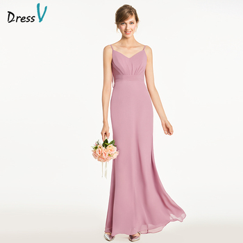 Dressv light peach sheath bridesmaid dress backless sleeveles draped pleats wedding party women floor length bridesmaid dress