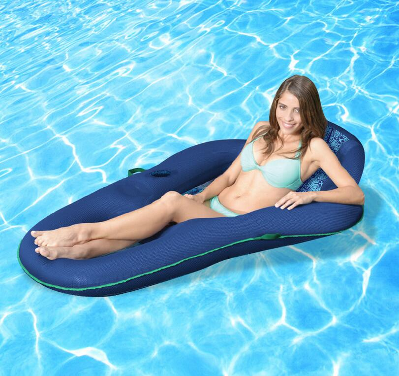 Quick dry long size 70cm x 150cm water float bean bag sofa, summer cool floating beanbag lounger,Phone holder pocket side sofa