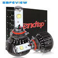 SAFEVIEW H4 LED Motorcycle Headlight Bulb 4000LM 40W Hi/Lo Beam 6000K with CREE LED Chip
