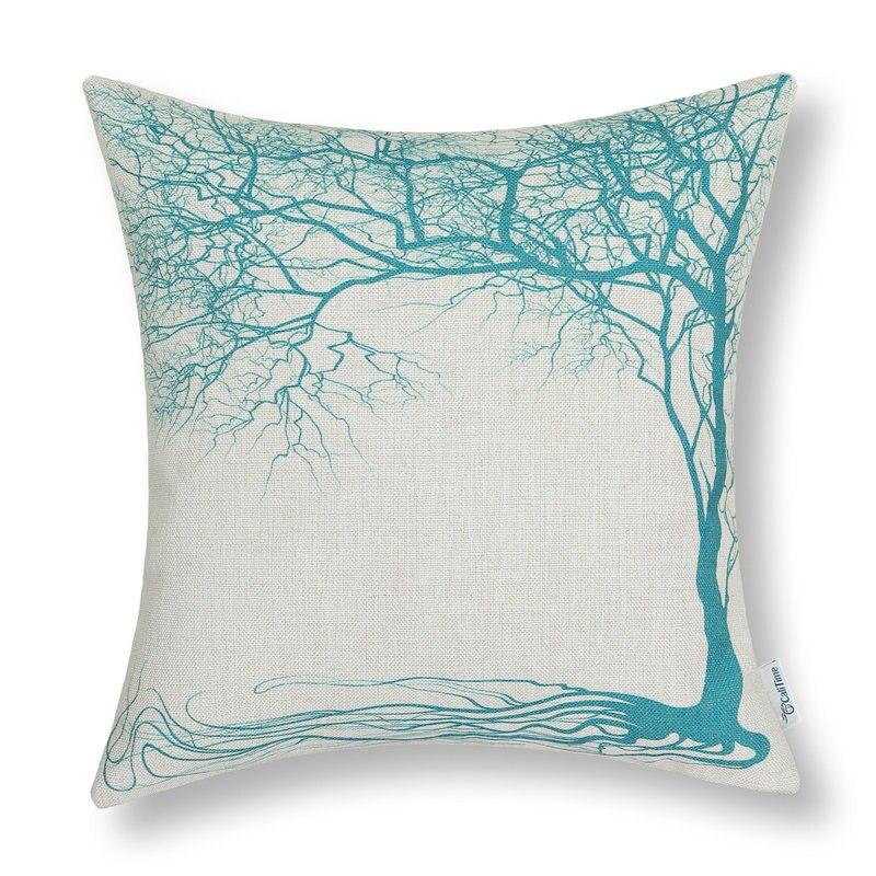 Calitime الوسائد الزخرفية قذيفة غطاء وسادة أريكة المنزل السيارة تيل جذور شجرة 18
