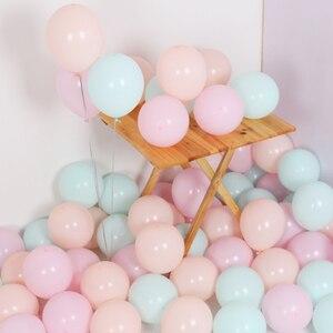 Image 4 - 30 יח\חבילה לערבב צבע Macaron בלוני חתונת מסיבת יום הולדת 2.2g ורוד מנטה עלה אוויר הליום לטקס חתונה דקור Balon תינוק מקלחת