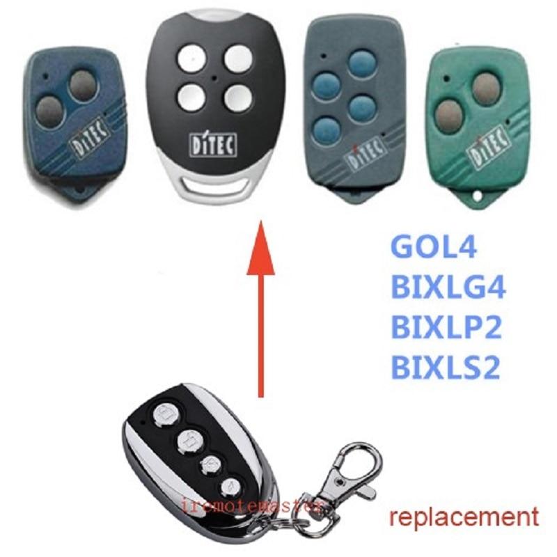 20pcs 100pcs DITEC GOL4 BIXLP2 BIXLS2 BIXLG4 Rolling code 433mhz replacement remote control free shipping