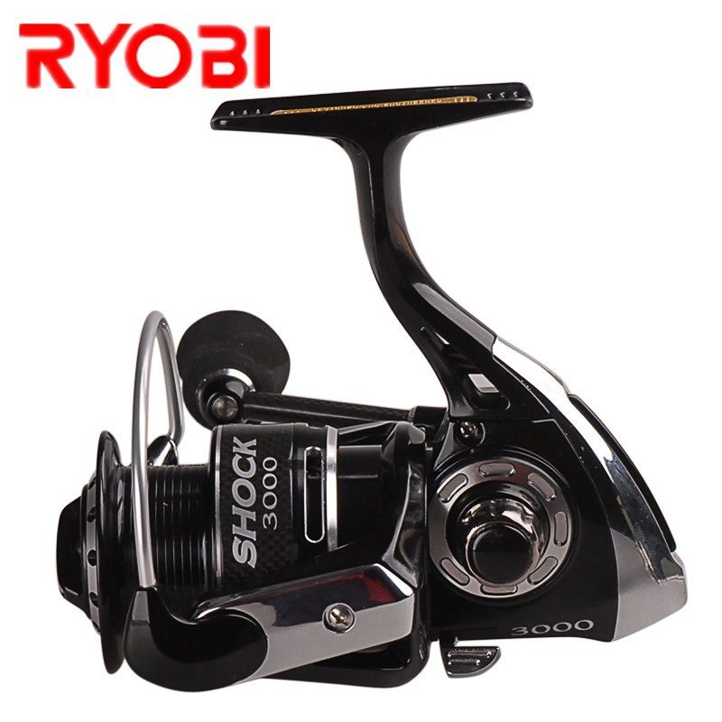 RYOBI SHOCK Spinning Fishing Reel 1000/2000/3000/4000 7+1BB 5.0:1/5.1:1 Saltwater Carp Fishing Reel Spinning Wheel Molinete