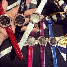 Women Watch Fashion Montre Women's Crystal Diamond Watches Analog Leather Quartz Wrist Watch Female Dress reloj mujer 2016
