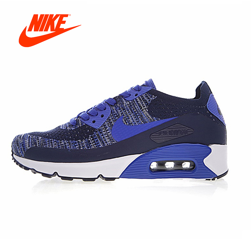 Original New Arrival Authentic Nike Air Max 90 Ultra 2.0 Flyknit Men's Running Shoes Non-slip Breathable Wear-resistant original new arrival authentic nike air max 90 ultra 2 0 flyknit men s running shoes breathable lightweight non slip outdoor