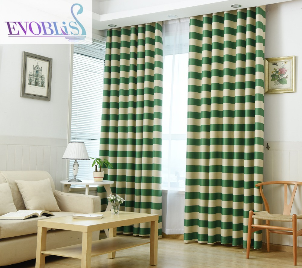 Striped Living Room Curtains Online Get Cheap Blue Striped Curtain Aliexpresscom Alibaba Group
