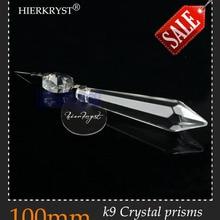 """HIERKRYST 25 шт./лот прозрачное стекло люстры кристаллы Ламповые призмы части Висячие Подвески 100 мм 3,9""""# 1904A"""